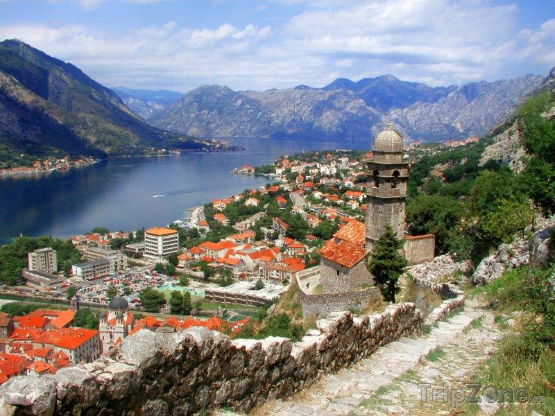 Fotka, Foto Kotor, město v Kotorském zálivu (Černá Hora)