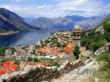 Kotor, město v Kotorském zálivu
