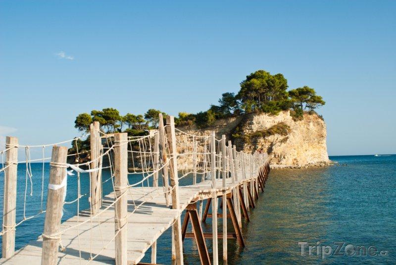 Fotka, Foto Lávka na ostrůvek Agios Sostis (Zakynthos, Řecko)