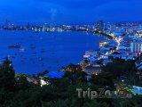 Letovisko Pattaya v noci