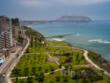Lima, pohled na čtvrť Miraflores