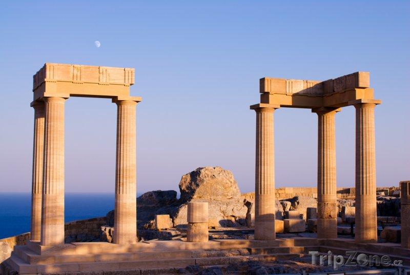 Fotka, Foto Lindos, Athénin chrám (Rhodos, Řecko)