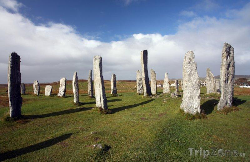 Fotka, Foto Megality na skotském ostrově Lewis (Velká Británie)