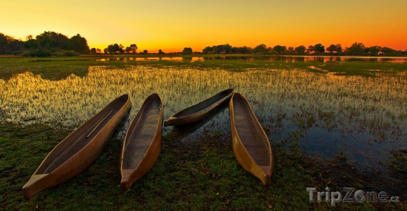 Fotka, Foto Močál řeky Okavango v poušti Kalahari (Botswana)