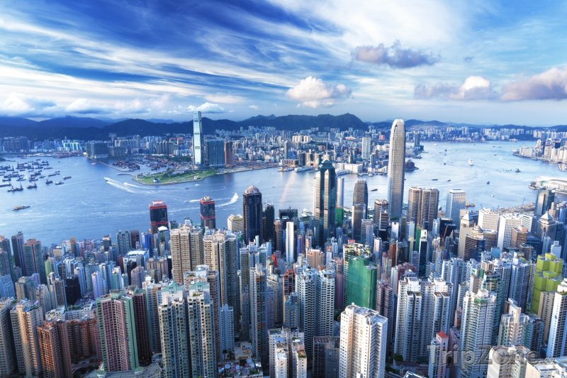 Fotka, Foto Mrakodrapy v Hongkongu (Čína)