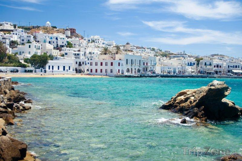 Fotka, Foto Ostrov Mykonos, pobřeží stejnojmenného města (Řecko)