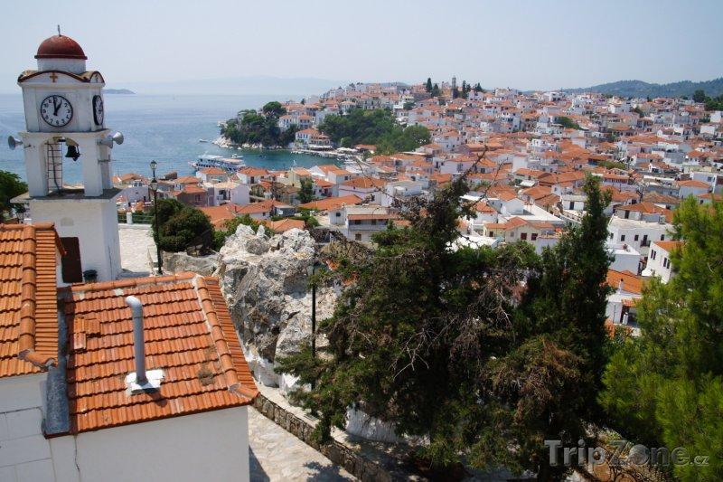 Fotka, Foto Ostrov Skiathos, panoráma města (Řecko)