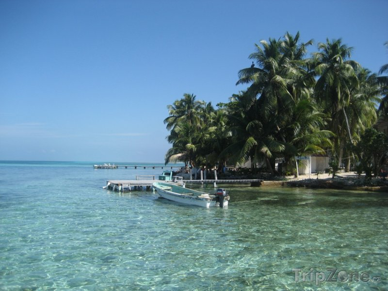 Fotka, Foto Ostrůvek Tobacco Caye (Belize)