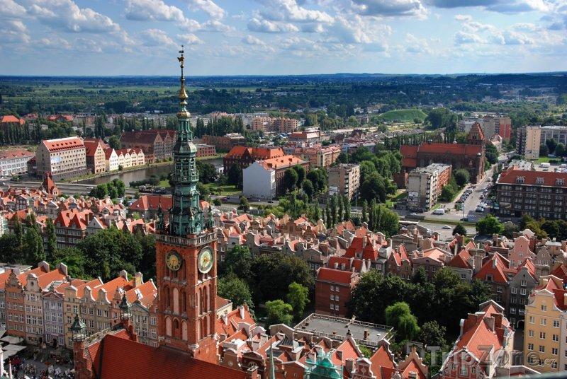 Fotka, Foto Panorama Gdaňsku (Polsko)