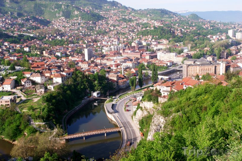 Fotka, Foto Panoráma města (Sarajevo, Bosna a Hercegovina)
