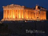 Parthenón v noci