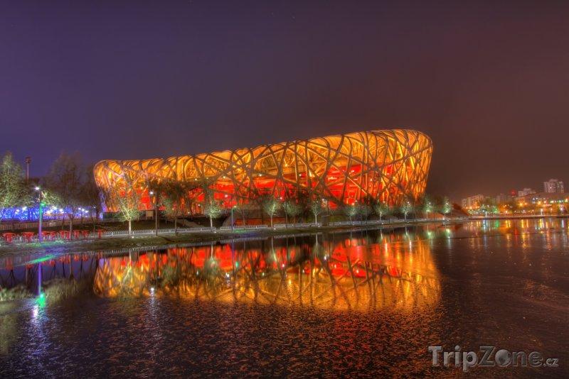 Fotka, Foto Peking, olympijský stadión (Čína)
