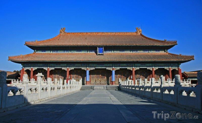 Fotka, Foto Peking, Zakázané město, palác Nebeské čistoty (Čína)