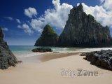 Pláž na souostroví Fernando de Noronha