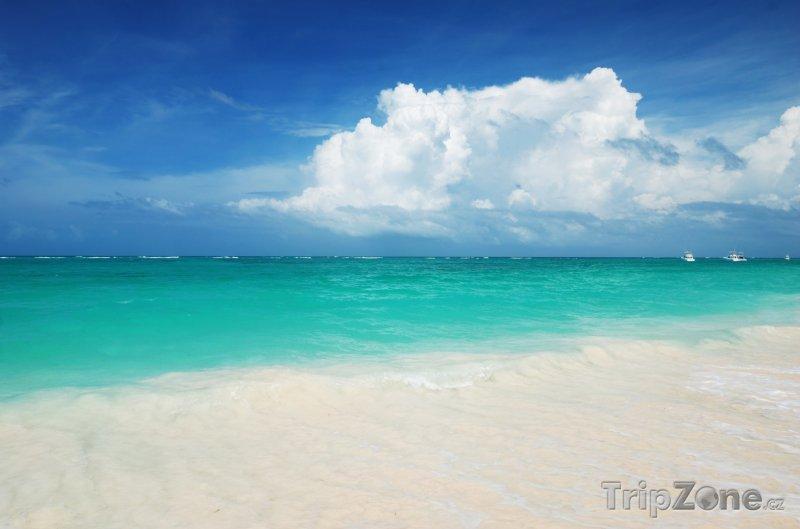 Fotka, Foto Pláž s bílým pískem (Dominikánská republika)