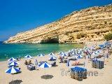 Pláž u vesnice Matala