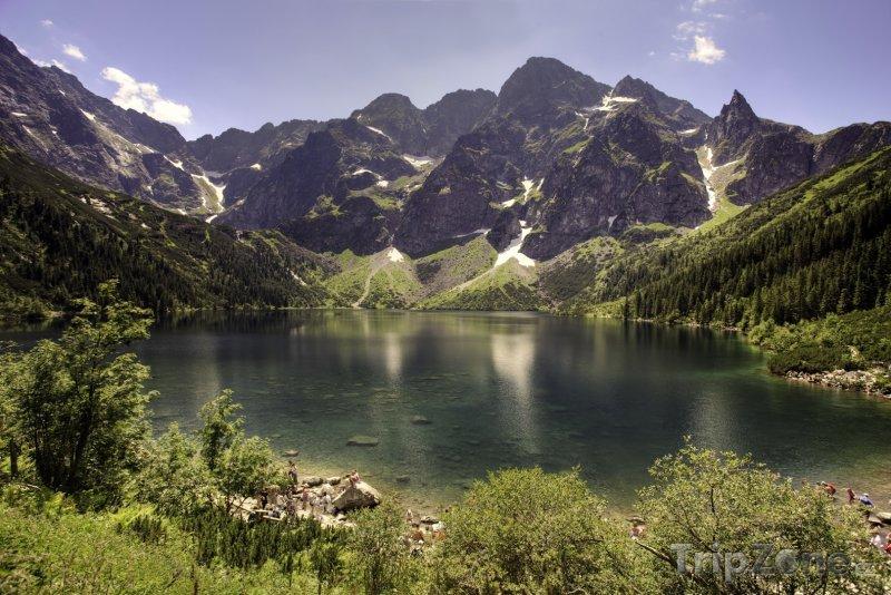Fotka, Foto Pleso Morskie Oko ve Vysokých Tatrách (Polsko)
