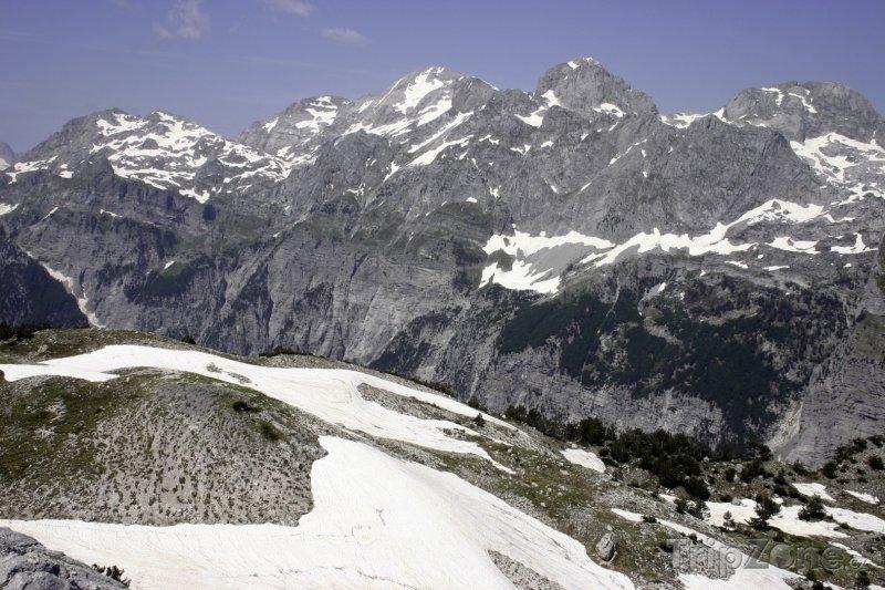Fotka, Foto Pohled na Albánské alpy (Albánie)