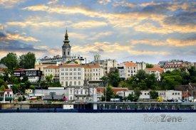 Pohled na Bělehrad z Dunaje