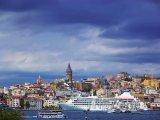 Pohled na istanbulskou čtvrť Bosphorus