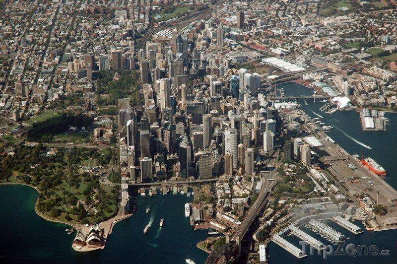Fotka, Foto Pohled na město z ptačí perspektivy (Sydney, Austrálie)