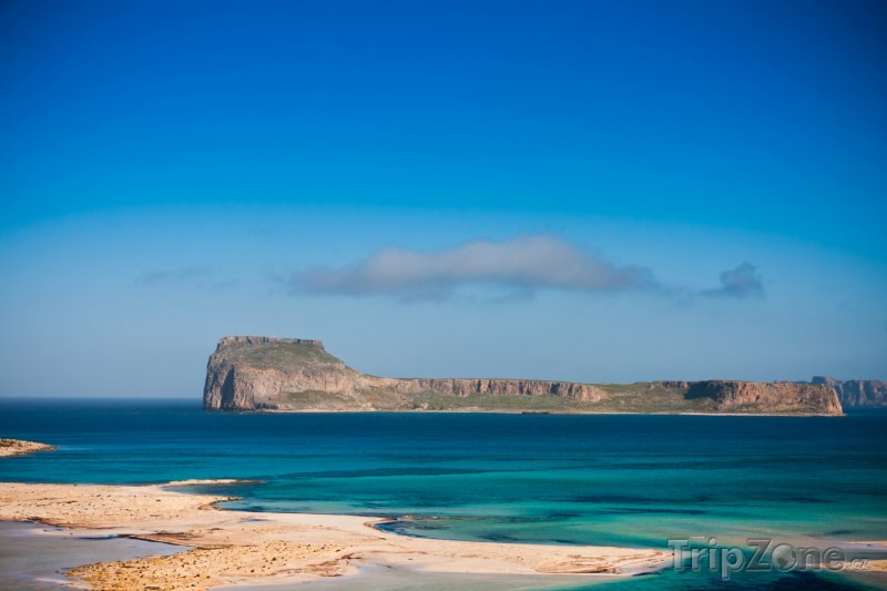 Fotka, Foto Pohled na ostrov Gramvousa (Kréta, Řecko)