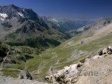 Pohled na Savojské Alpy z Col du Galibier