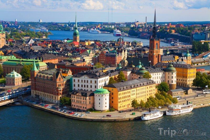 Fotka, Foto Pohled na Stockholm (Stockholm, Švédsko)
