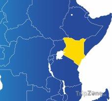 Poloha Keni na mapě Afriky