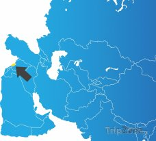 Poloha Libanonu na mapě Asie