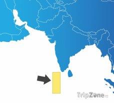 Poloha Malediv na mapě Asie