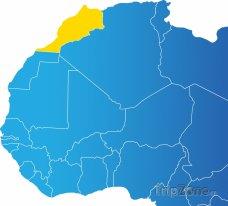 Poloha Maroka na mapě Afriky