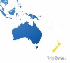 Poloha Nového Zélandu na mapě