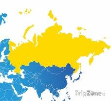 Poloha Ruska na mapě