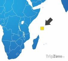Poloha Seychel na mapě