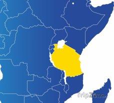 Poloha Tanzanie na mapě Afriky