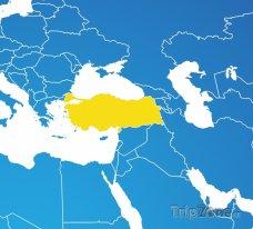 Poloha Turecka na mapě