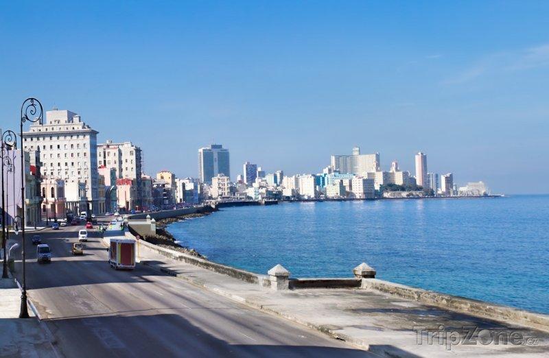 Fotka, Foto Promenáda Malecon v Havaně (Kuba)