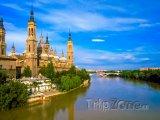 Řeka Ebro v Zaragoze