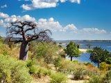 Řeka Kwando v oblasti Ngamiland