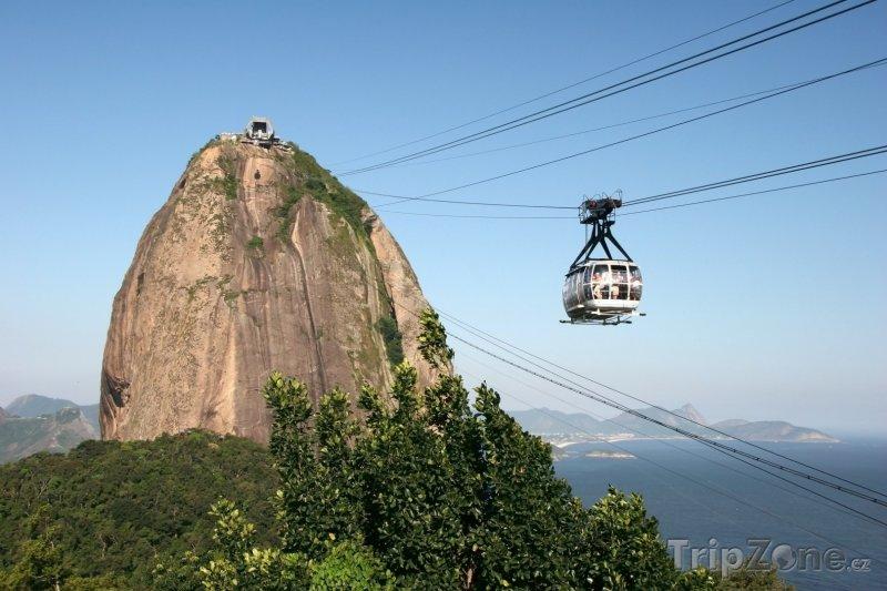 Fotka, Foto Rio de Janeiro, lanovka na vrch Pão de Açúcar (Brazílie)