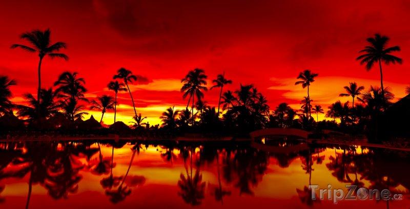 Fotka, Foto Romantický západ slunce (Dominikánská republika)
