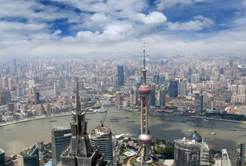 Fotka, Foto Šanghaj, pohled na město (Čína)