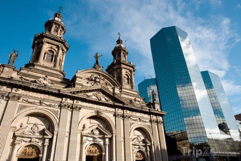 Fotka, Foto Santiago, katedrála (Chile)