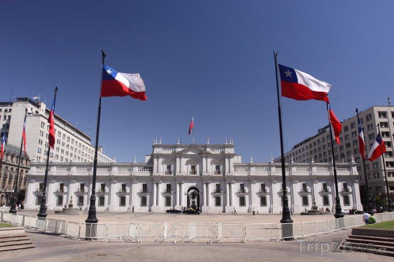 Fotka, Foto Santiago, Palacio de La Moneda - sídlo prezidenta (Chile)