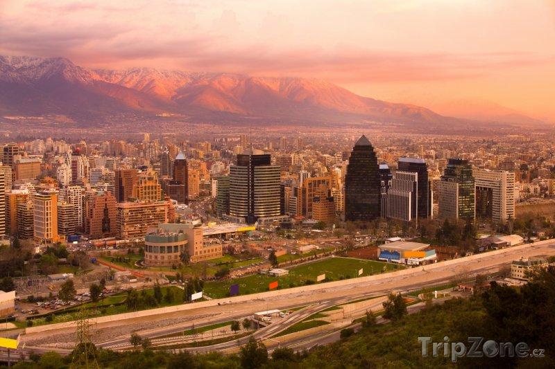 Fotka, Foto Santiago, panoráma města (Chile)