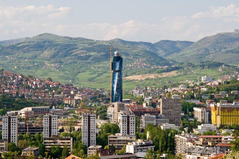 Fotka, Foto Sarajevo, mrakodrap Avaz Twist Tower (Sarajevo, Bosna a Hercegovina)