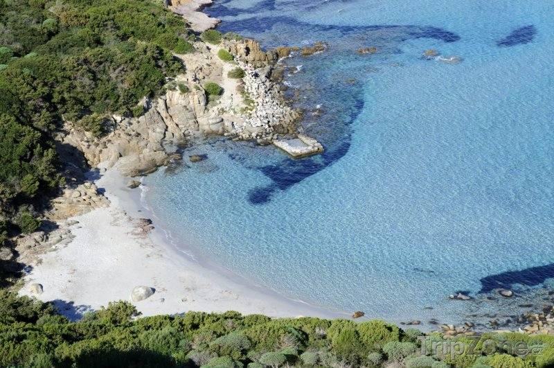 Fotka, Foto Sardinie - Pláž Porto Giunco (Itálie)