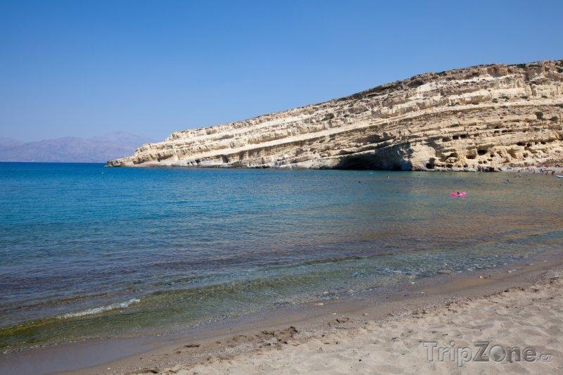 Fotka, Foto Skála s jeskyněmi v Matale na Krétě (Kréta, Řecko)