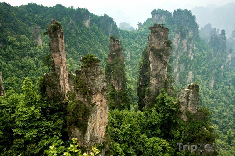 Fotka, Foto Skály v oblasti Wu-ling-jüan (Čína)